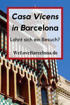 Casa Vicens Tickets in Barcelona: ♥ Reisebericht - Lohnt sich ein Besuch? | Was gibt es zu sehen? ✔ Geschichte ✔ Eintrittspreise ✔ Tickets ✔ Führungen ✔ Öffnungszeiten ✔ Stoßzeiten ✔ Erreichbarkeit ✔ Casa Vicens in Barcelona Barcelona Museum, Gaudi, Ticket, Happiness, Travel, Spain Travel, Amusement Parks, Mediterranean Sea, Travel Report
