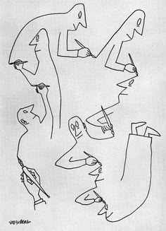 The amazing cartoon world of Saul Steinberg (1914-1999), a Jewish Romanian-born American cartoonist and illustrator