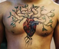 heart tree tattoos