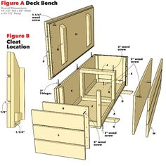 balkon bank How to Build an Outdoor Storage Bench Patio Storage Bench, Patio Bench, Backyard Patio, Outside Storage Bench, Diy Storage Bench Plans, Furniture Storage, Design Furniture, Diy Outdoor Furniture, Outdoor Decor