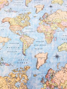 World map fabric stamped on blue canvas. - World map fabric stamped on blue canvas. World Map Wallpaper, Travel Wallpaper, Wallpaper Iphone Cute, Tumblr Wallpaper, Aesthetic Iphone Wallpaper, Screen Wallpaper, Aesthetic Wallpapers, Cute Wallpapers, Wallpaper Backgrounds