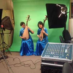 "Last week we hosted two special guests to film a video that will be featured in the new Take Me There: China gallery. The women are performing the song ""Jasmine Flower"" with a pipa, a traditional Chinese stringed instrument. The video will be used to show the difference in instruments and musical styles between traditional Chinese and Western music."