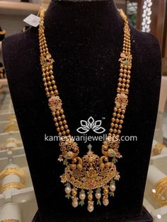 Pearl Necklace Designs, Gold Earrings Designs, Gold Haram Designs, Gold Jewelry, Jewellery, Gold Choker, Gold Necklace, Gold Pendant, Pendant Jewelry