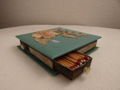 Vintage Mid Century Aqua Tile Match Storage Box by theoldmilkbarn on Etsy