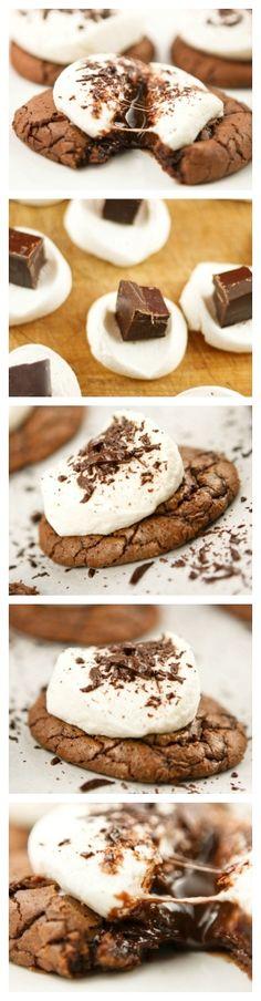 Galletas de chocolate con malvaviscos | Pecados de Reposteria by arioco