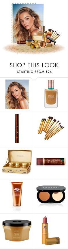 """Blonde Beauty"" by soleuza ❤ liked on Polyvore featuring beauty, Estée Lauder, By Terry, Origins, Bobbi Brown Cosmetics, Oribe, Lipstick Queen and Bare Escentuals"