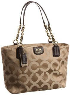 Coach Op Art Signature Madison Sateen Tote Bag - Handbag