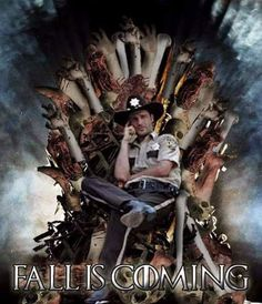 Fall is coming. Game of Thrones and Walking Dead mash up. Walking Dead Season 6, The Walking Dead 2, Walking Dead Tv Series, Walking Dead Funny, Walking Dead Zombies, Game Of Thrones, Fall Is Coming, Dead Inside, Stuff And Thangs