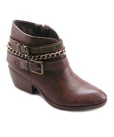 Look at this #zulilyfind! Betani Brown Taylor Ankle Boot by Betani #zulilyfinds