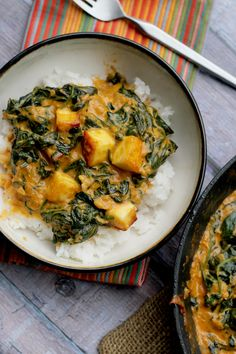 Saag Paneer...a take-out at home version of this creamy north Indian classic, made with only 9 INGREDIENTS.