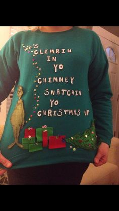 Win all the ugly Christmas sweater contests!  Ha ha this is hilarious!!