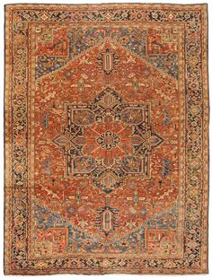 Antique Heriz Carpet 11.0 X 14.6 - Fred Moheban Gallery