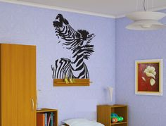 Zebra Head Sticker Wall Vinyl African Animal Horse Mural Room Decor Gift  #082 #HomeOfStickers