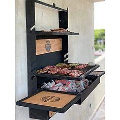 Barbecue Design, Grill Design, Metal Furniture, Furniture Design, Rooftop Terrace Design, Balkon Design, Bbq Area, Outdoor Kitchen Design, Bbq Grill