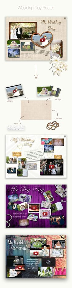 Wedding Day Poster #glogster #glogpedia #personal #wedding