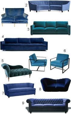 get the look 34 blue velvet sofas style carrot