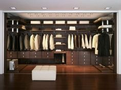 who says men can't have a kickass closet?
