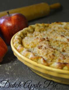 Use this Amish Apple Pie recipe to wow your friends! The crumb topping is incredible and makes this pie so simple to make!