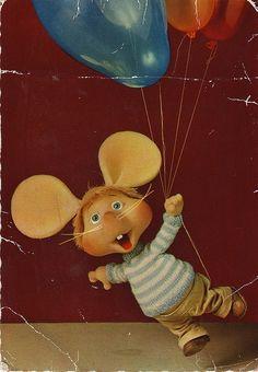 From my childhood postcard box: Topo Gigio by BEAT NIK, via Flickr