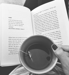 Chai tea and a book. We need autumn now.