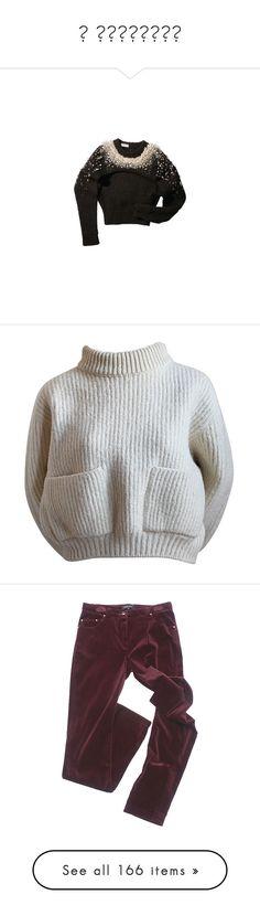 """В движении"" by klukina-mv ❤ liked on Polyvore featuring tops, balenciaga, sweaters, shirts, jumpers, crop shirts, 80s shirt, 80s sweaters, cream cropped sweater and creme shirt"