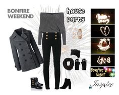 """""""Bonfire Weekend House Party"""" by fashion-ally-late ❤ liked on Polyvore featuring Lands' End, T By Alexander Wang, Balmain, MANGO, LA77, Akribos XXIV, Amanda Rose Collection, Kate Spade and Pamela Love"""