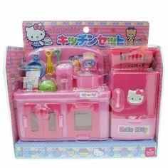 Sanrio Japan Hello Kitty Kitchen Refrigerator Toaster Foods Dollhouse Miniatures #Sanrio