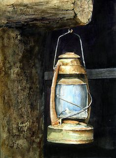 How to wire an old lantern into a table lamp for the home lantern painting by sam sidders lantern fine art prints and posters for sale greentooth Images