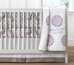 Dahlia Nursery Bedding | Pottery Barn Kids