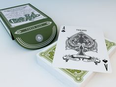 Viridian playing cards are a modern twist inspired by the classics. Influenced by vintage design and refined by modern aesthetics.