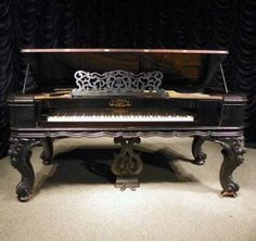 View our library of professional piano restoration services, online piano museum and collection of rare antique instruments for sale. Piano Shop, Piano For Sale, Piano Restoration, Hammered Dulcimer, Old Pianos, Upright Piano, Grand Piano, Spotify Playlist, Music Love