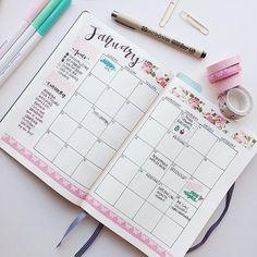 BULLET JOURNAL ~ Monthly Log