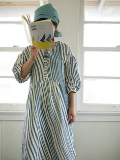striped dress. by yoo ii on flickr. nani-iro.  stripes bandes strisce raidat