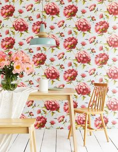 Wallpapers for dining rooms #redflowerwallpapers #redwallpapers #flowerwallpapers #diningroomwallpapers #wallpaperfordiningroom #3dwallpapers #wallpaperkitchens