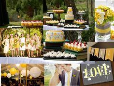 Pewter and Sunflower : PANTONE WEDDING Styleboard : The Dessy Group
