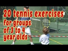 20 Tennis exercises for groups of 3 4 year olds Tennis Games, Tennis Tips, Tennis Clubs, Tennis Players, Tennis Gear, Tennis Lessons For Kids, Tennis Scores, Tennis Techniques, Tennis Serve