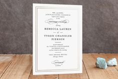 Eloquence Foil-Pressed Wedding Invitations by Kimberly FitzSimons at minted.com