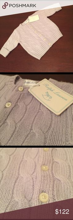 Ralph Lauren cashmere sweater Gorgeous Ralph Lauren 100% cashmere sweater! ❤️ 3 months. This would make a perfect baby gift. New with tags. Ralph Lauren Shirts & Tops Sweaters