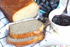 """Recipe for gluten free bread Grain-free Coconut Almond Bread Grain-free Sandwich Bread (GAPS : primal : gluten-free) """"1) 3/4 cup of coconut flour (or slightly more if batter is too liquid) 2) 1 cup of almond meal 3) 1/2 cup + 2 tablespoons of butter (140g) 4) 8 eggs 5) 1 tablespoon of mild-flavored honey …"""