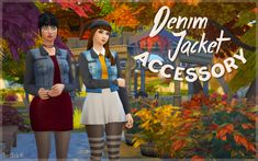 Sims 4 CC's - The Best: Denim Jacket Accessory by Simblob