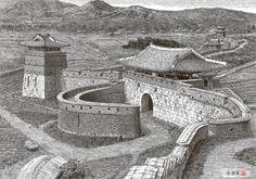 [김영택의 펜화기행] 수원 화성 화서문과 서북 공심돈 - 중앙일보 뉴스 Old Pictures, Old Photos, Asian Architecture, Fantasy City, History Class, Korean Art, Korean Traditional, Old Paintings, Historical Photos