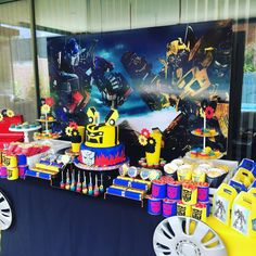 Fancy Eventos's Birthday / Transformers - Photo Gallery at Catch My Party Circus Birthday, 6th Birthday Parties, 4th Birthday, Birthday Party Decorations, Party Themes, Party Ideas, Transformers 4, Ideas Decorar Cumpleaños, Rescue Bots Birthday
