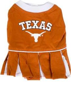 Longhorn Pet Cheerleader Dress  #cute #puppy #kitten #hookem