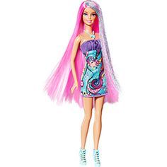 Barbie Cabelos Longos Rosa - Mattel