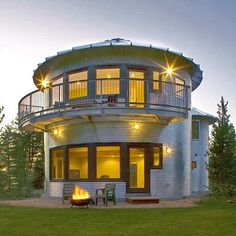 House made of a converted silo! (photo by Forbes via yahoo real estate)