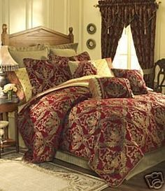 Croscill Imperial Empress 4 Pc King Comforter Set Red Gold by CROSCILL, http://www.amazon.com/dp/B0012KC2CG/ref=cm_sw_r_pi_dp_QQwTrb0FPH5PH