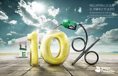 Gas Station Banco Falabella on Behance Advert Design, Advertising Design, Ad Design, Graphic Design, Clever Advertising, Advertising Poster, Ads Creative, Creative Posters, Banks Ads