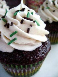 Chocolate Zucchini Cupcakes with Cinnamon Buttercream