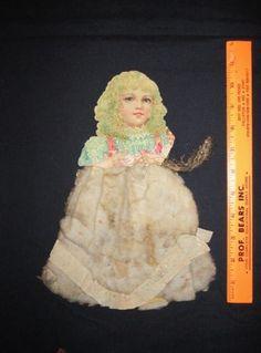 Antique Vintage Christmas Scrap and Cotton Batting Ornament   eBay