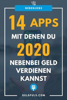 14 Apps um 2020 nebenbei Geld zu verdienen Marketing Tools, Internet Marketing, Online Marketing, Affiliate Marketing, Business Tips, Online Business, Savings Planner, Best Self, Online Jobs